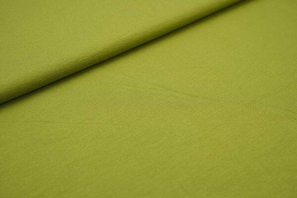 Viskose-Jersey uni olivgrün