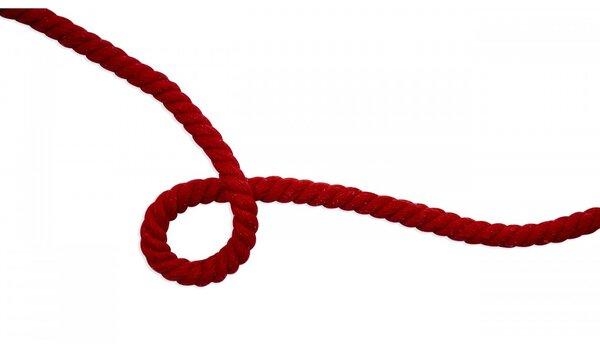 Dicke Baumwoll-Kordel gedreht rund uni rot 10 mm breit