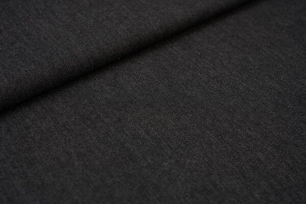 Jeansstoff mit Stretch schwarz