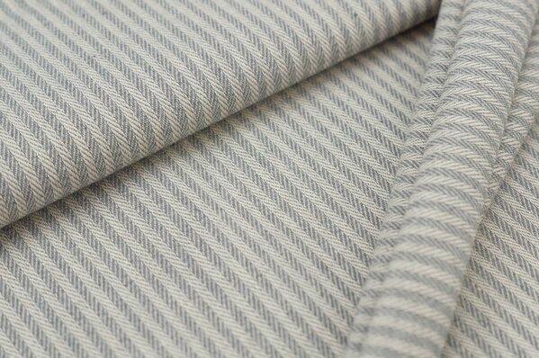 Canvas-Stoff Dekostoff Streifen Linien-Muster grau / weiß