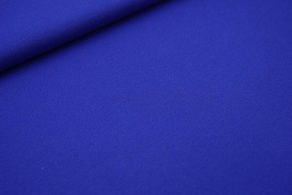 Baumwoll-Jersey mit Struktur Piqué Stoff uni königsblau