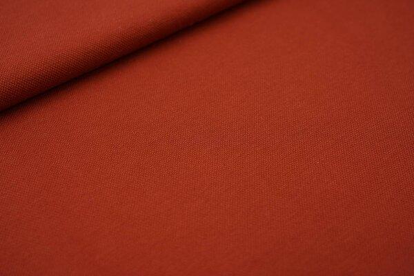 Baumwoll-Jersey mit Struktur Piqué Stoff uni rotbraun