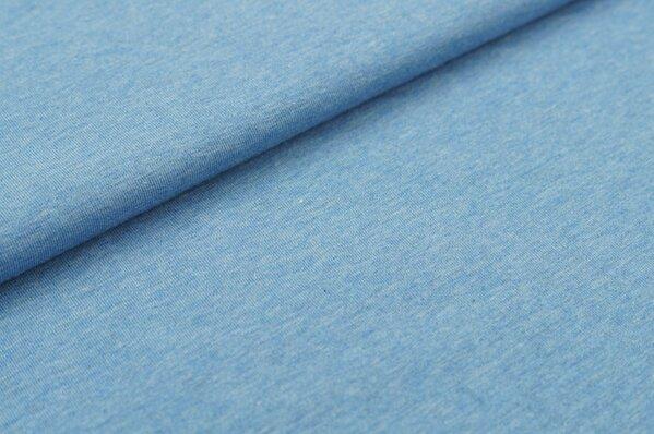 XXL Jersey Maya uni pastell jeansblau melange