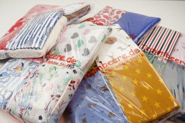 Stoffpaket Sweat Mix 3 m verschiedene Farben / Muster gemischt