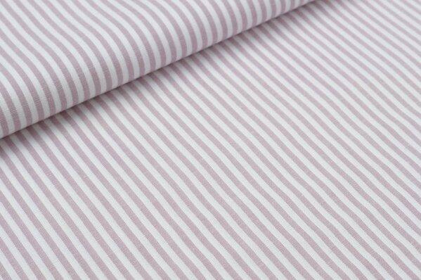 Baumwollstoff Baumwolle Streifen pastell lila / weiß meliert
