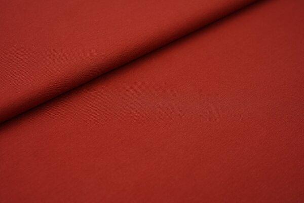 weicher Baumwoll Jersey Uni terrakotta braun