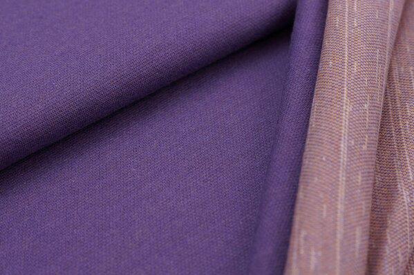 Jacquard-Sweat Ben lila Uni mit lila senf und off white Rückseite