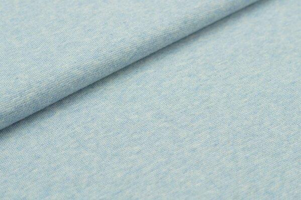 XXL Bündchen Maya glatt Schlauchware pastell hellblau melange