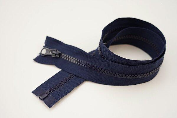 Reißverschluss navy dunkelblau Teilbar 6 mm Krampenschiene Autolock Schieber 40-100cm