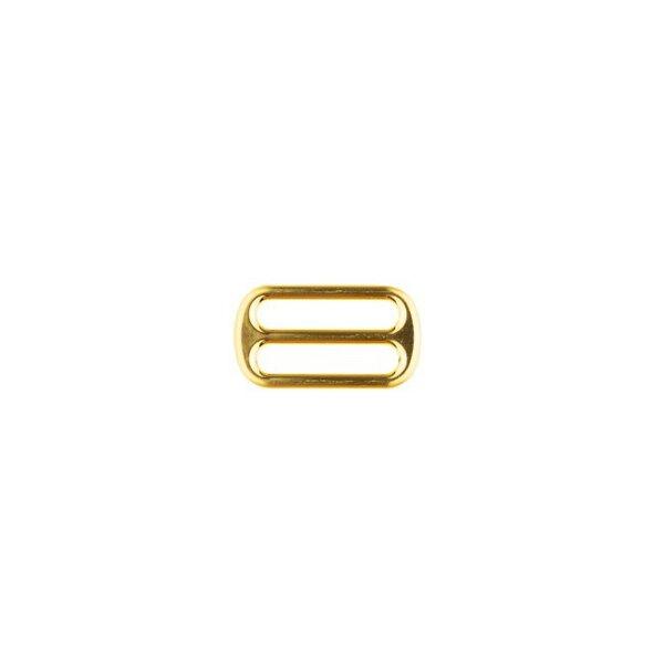 Metall Leiterschnalle 25 mm gold Schieber