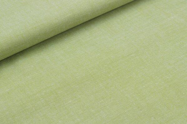 Baumwollstoff Baumwolle uni grün meliert