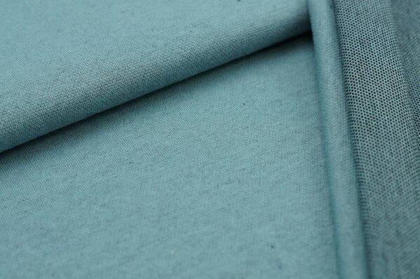 Jacquard-Sweat Ben altmint Uni mit altmint und schwarzer Rückseite