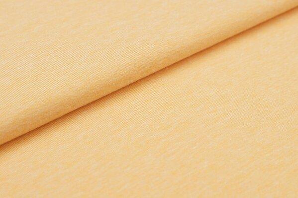 Baumwoll-Jersey uni pfirsich meliert