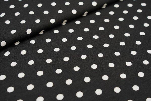 Viskose-Jersey Punkte schwarz / weiß