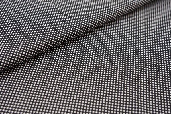 Baumwollstoff Baumwolle schwarz mit kleinen weißen Punkten Tupfen
