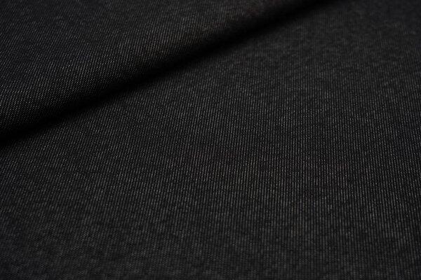 Kuscheliger Alpenfleece in Jeans Optik uni schwarz Kuschelsweat