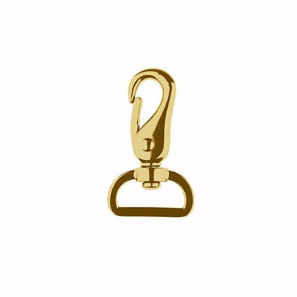 Metall Karabinerhaken 25 mm gold Taschenkarabiner