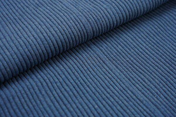 Grobstrick Bündchen Schlauchware gerippt jeansblau meliert