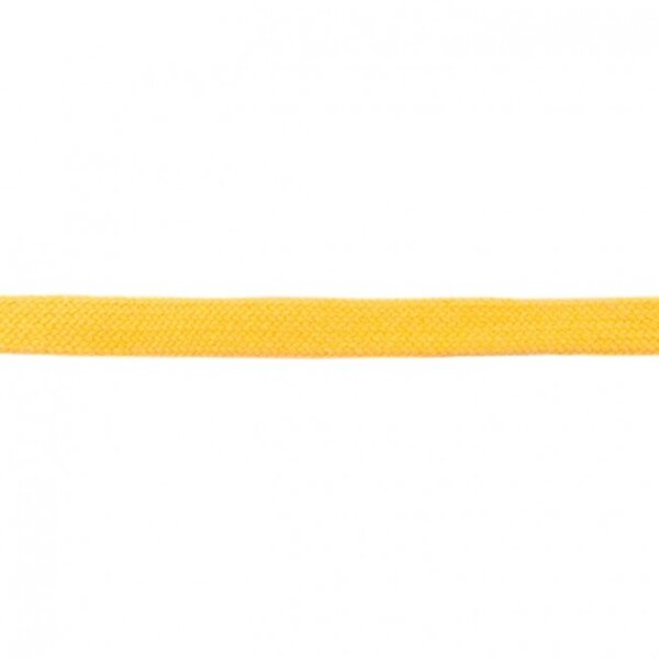 Kordel flach uni gelb 20 mm breit