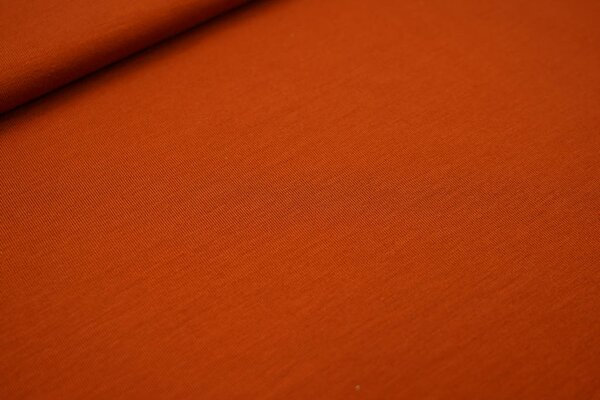 Bambus-Jersey uni rostorange
