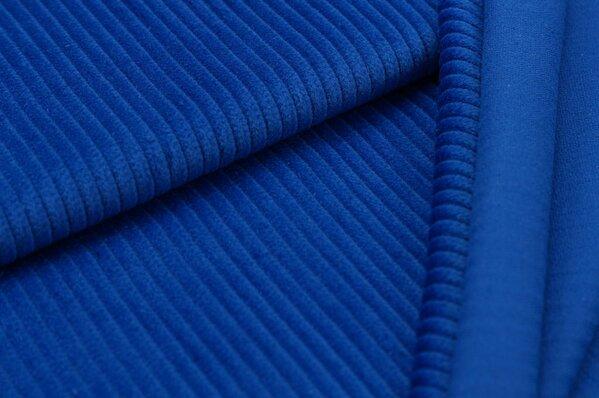 Breitcord Stoff uni königsblau
