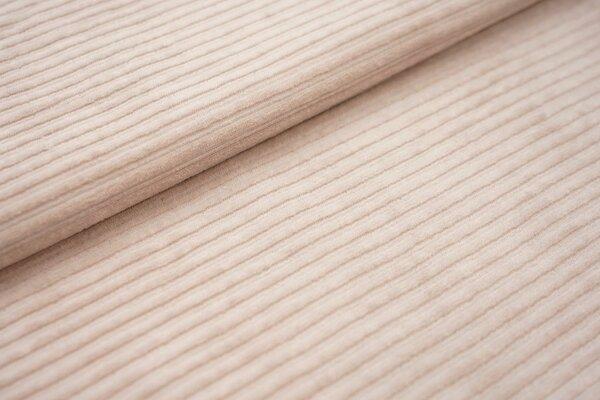 Breitcord Jersey uni beige sand