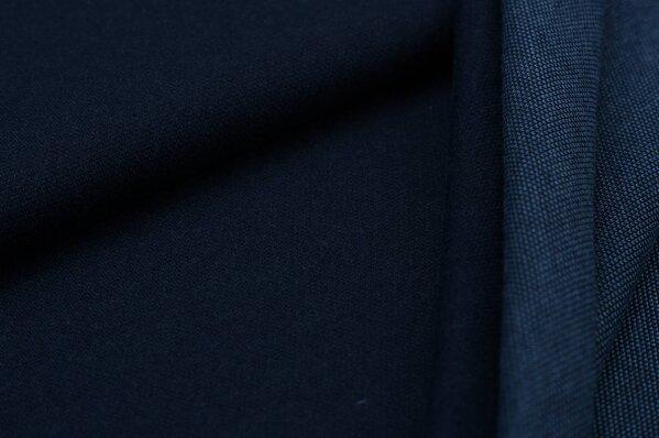 Jacquard-Sweat Ben uni navyblau mit taupeblau Rückseite