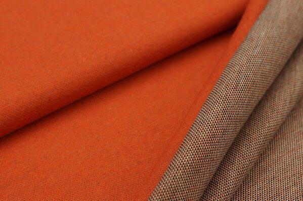Jacquard-Sweat Ben rostorange Uni mit schwarz / off white Rückseite