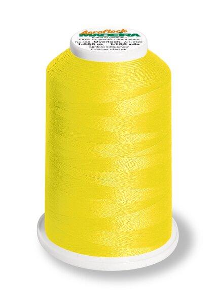 Madeira Bauschgarn Overlockgarn Aeroflock No. 100 Farbe 8230 neon gelb 1000 m