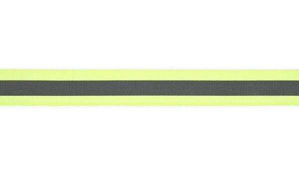 Reflektierendes Band neon gelb / silber 25 mm Reflektionsband Reflektorband