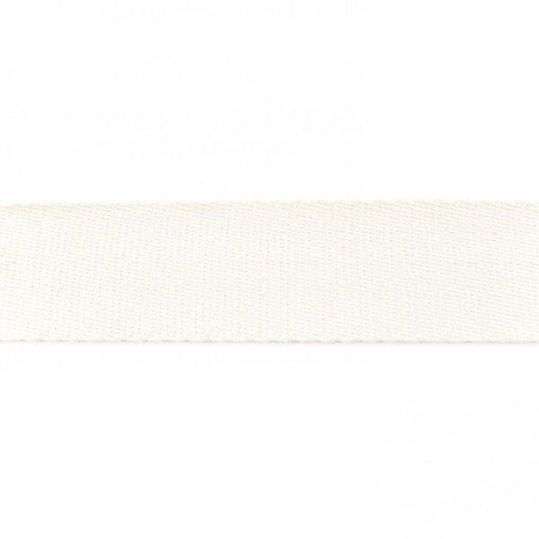 Breites Gurtband uni off white 40 mm