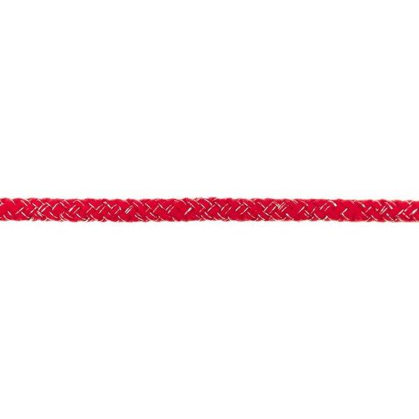 Dicke Glitzer Kordel rund uni rot / silber 10 mm breit