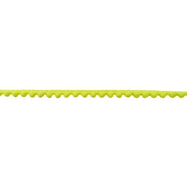 Bommelborte Mini uni neon gelb 7 mm