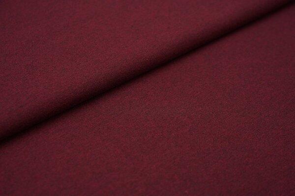Baumwoll-Jersey Recycelt einfarbig uni bordeaux weinrot meliert