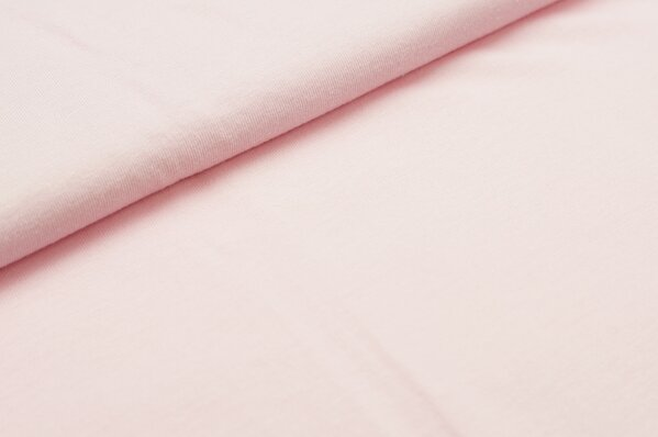 XXL T-Shirt Stoff LILLY uni babyrosa / hellrosa
