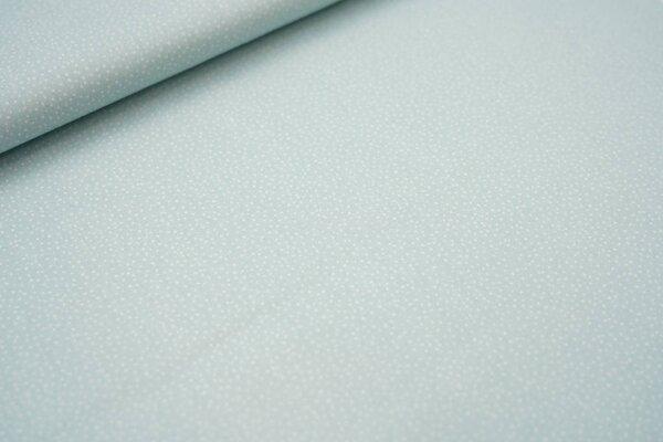 Baumwollstoff weiße Mini Pünktchen auf mint Punkte Sprenkel