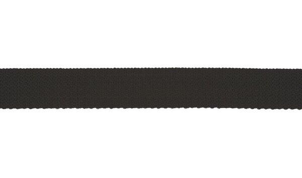 Gurtband Taschengurtband uni schwarz 25 mm
