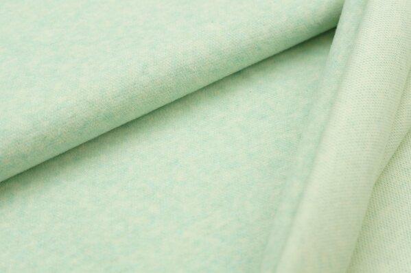 Kuschel Jacquard-Sweat Moritz pastell mint / off white Melange Uni