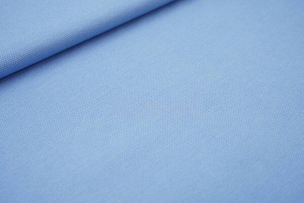 Baumwoll-Jersey mit Struktur Piqué Stoff uni hellblau