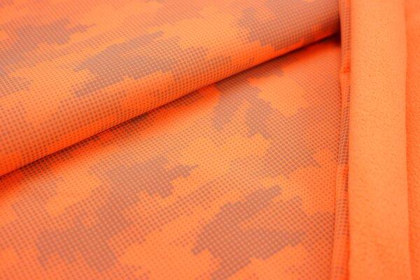 Softshell neon orange mit reflektierenden grauen Punkten