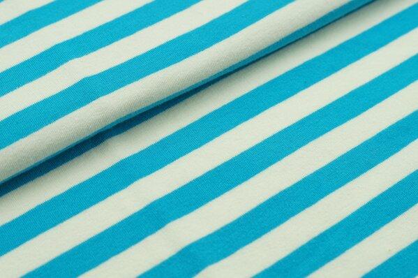 XXL Sommersweat MARIE Streifen groß türkis creme