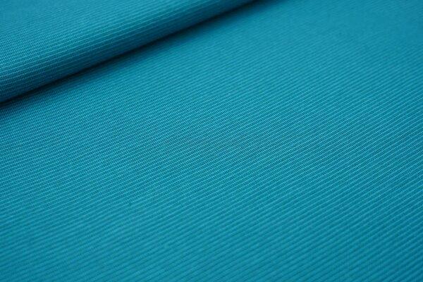 Baumwoll-Jersey Mini-Streifen Ringel türkis / petrol