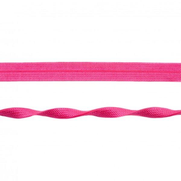 Elastisches Schrägband Jacquard Einfassband uni pink 20 mm breit