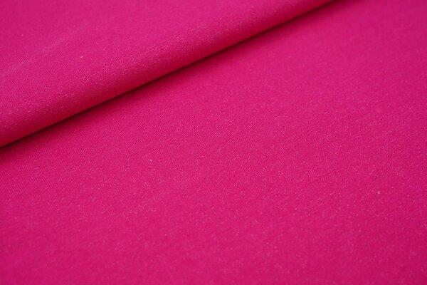 Glattes Glitzer Bündchen pink mit silber