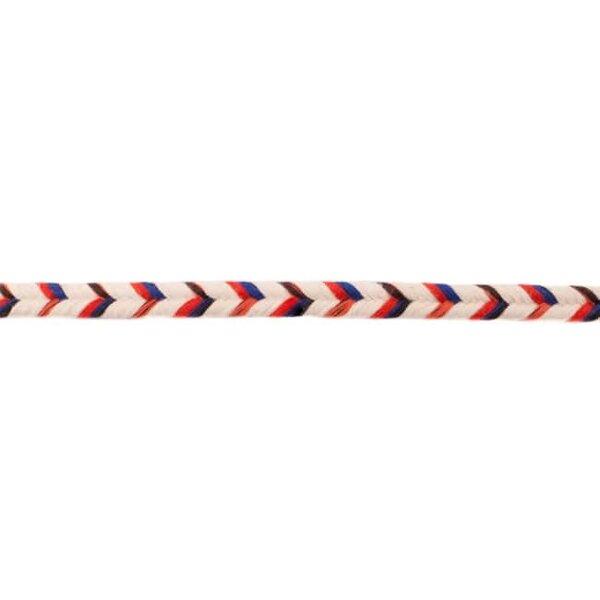 Doppelte Baumwoll-Kordel Fischgrät Multicolour schwarz blau 10 mm breit