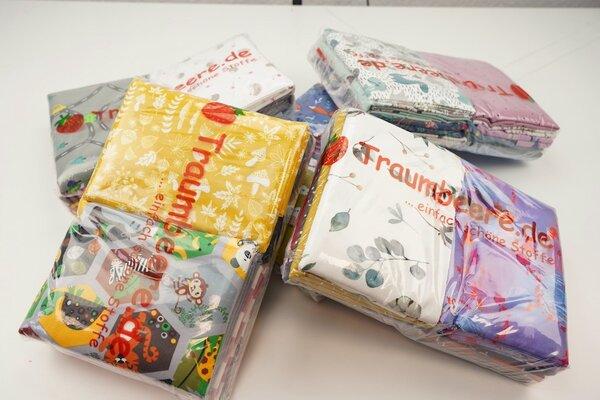 Stoffpaket Jersey Mix 3 m verschiedene Farben / Muster gemischt