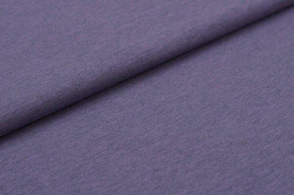 Baumwoll-Jersey uni pastell-lila meliert