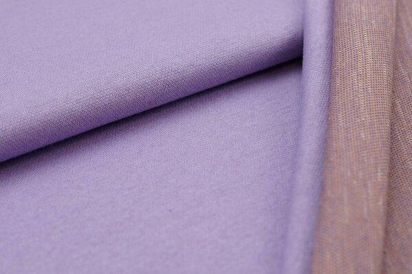 Jacquard-Sweat Ben hell lila Uni mit hell lila lila und senf Rückseite