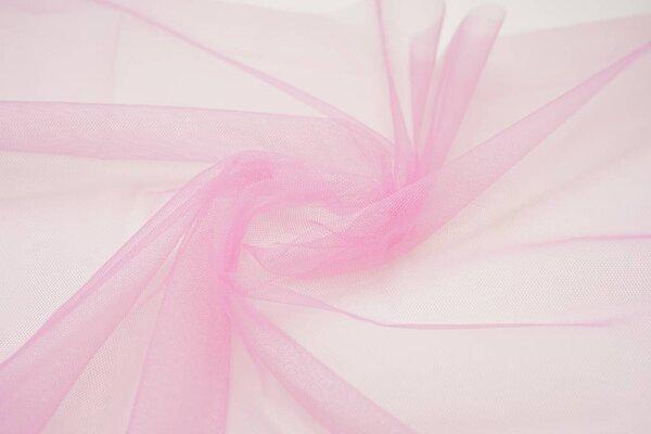 Tüll Stoff uni hell pink