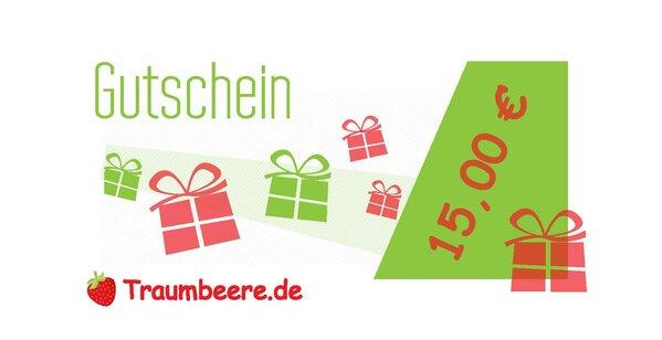 Geschenkgutschein 15 Euro (Versand per E-Mail)